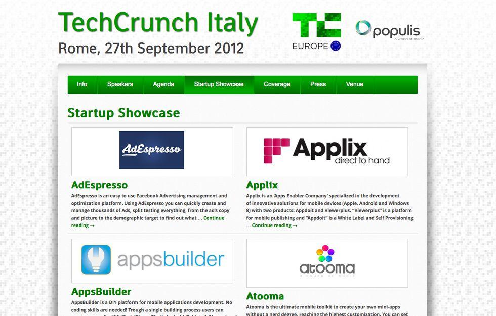 TechCrunchItaly, visibilità alle start up italiane