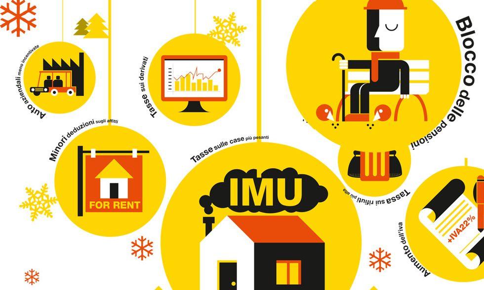Tasse, tutti i pacchi di Natale di Mario Monti