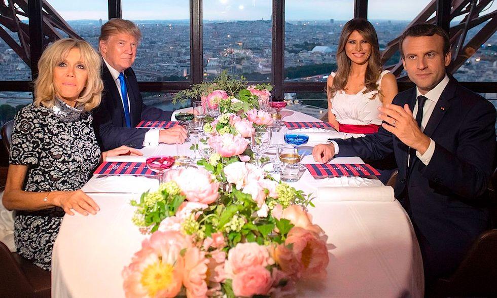 Macron Trump Parigi