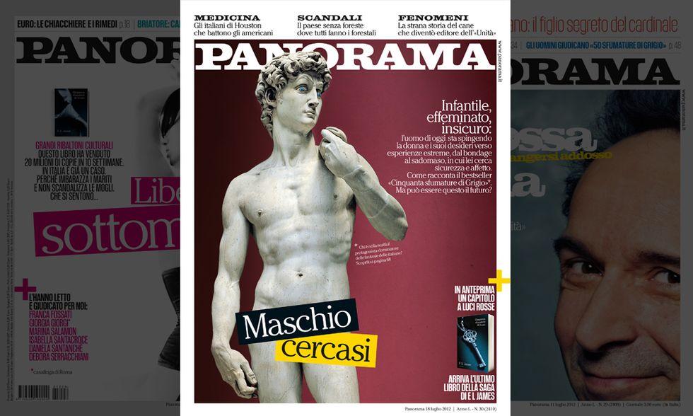 Maschio cercasi. Alla ricerca del vero uomo. Il nuovo numero di Panorama