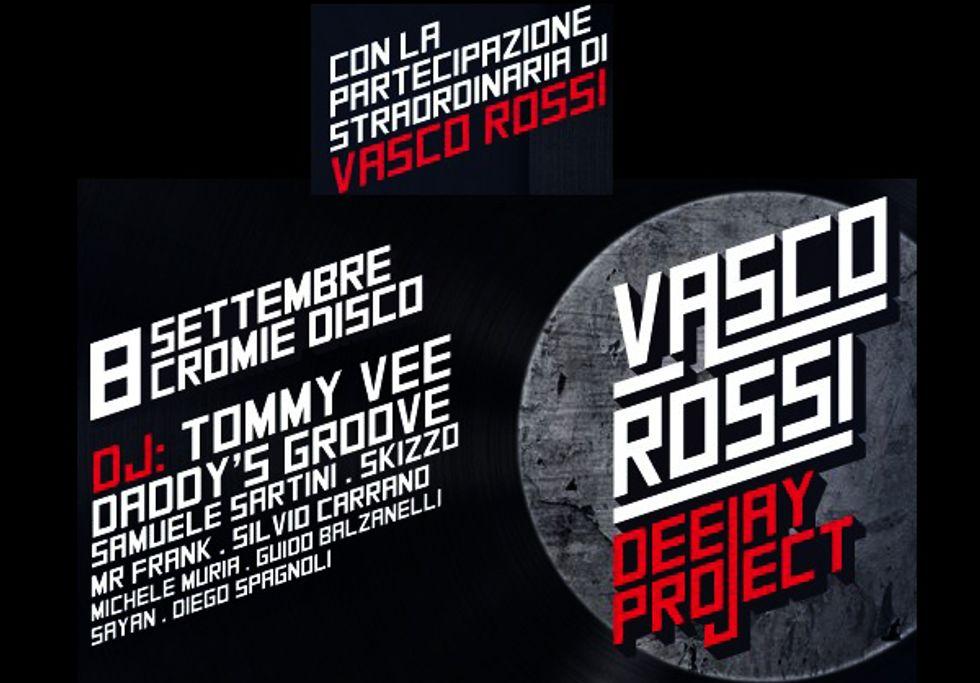 """Vasco Rossi al 'Cromie' con Tommy Vee. Il dj: """"E' un onore"""""""