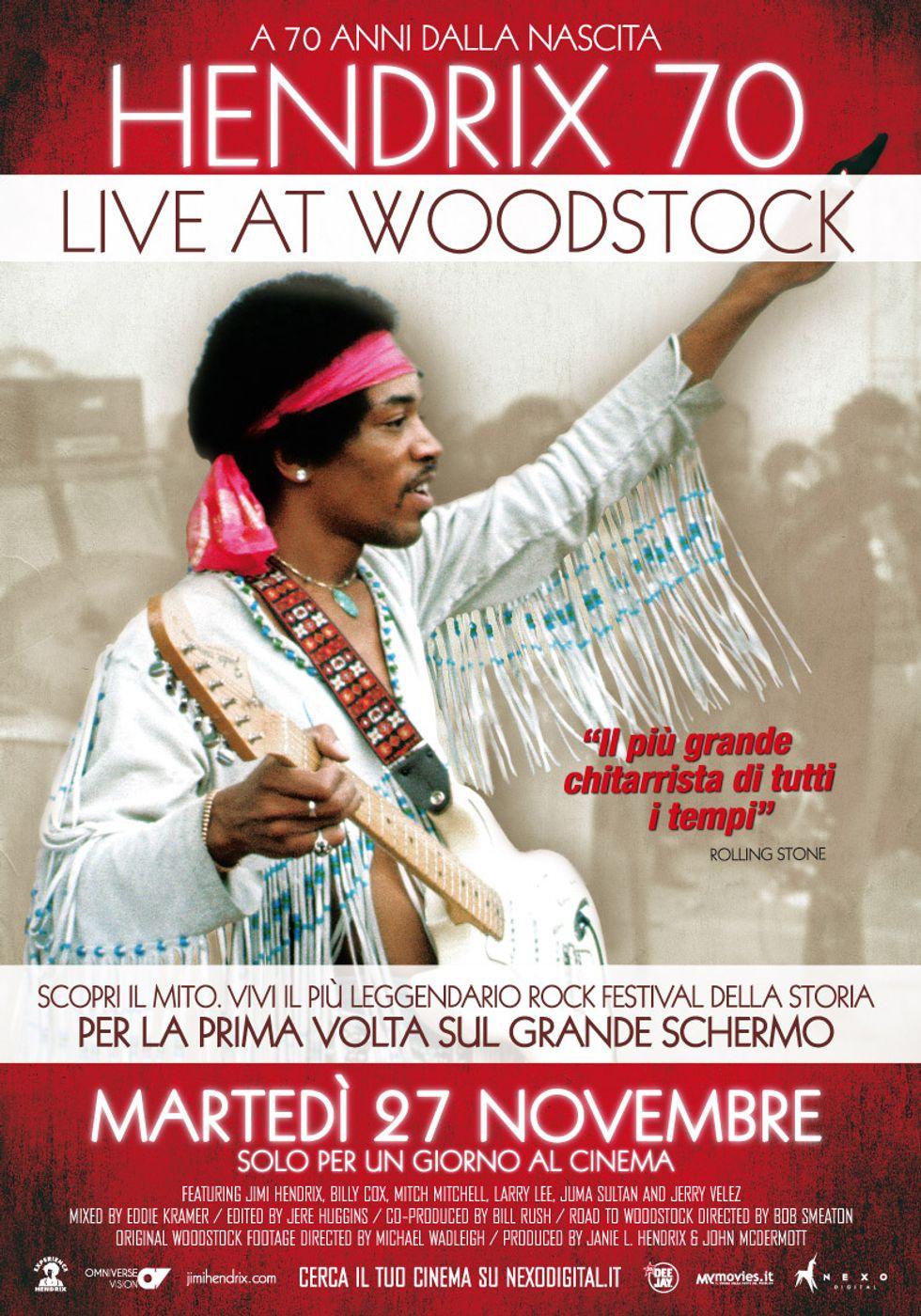 Jimi Hendrix a Woodstock, al cinema per ricordare i 70 anni della nascita