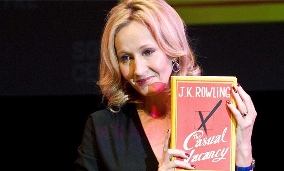 J.K. Rowling in Italia con il nuovo romanzo, 'Il seggio vacante'