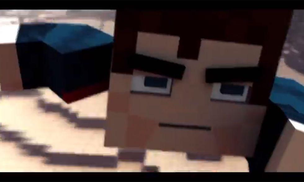 L'uomo d'acciaio, il trailer in versione Minecraft