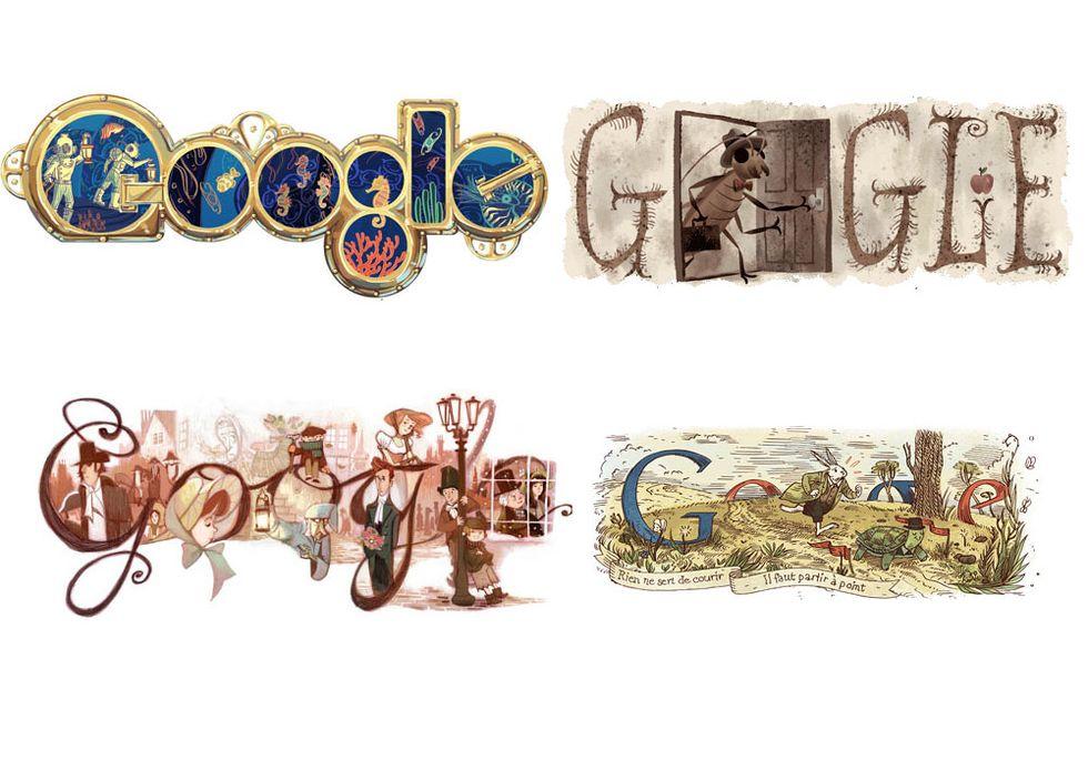 I migliori 20 doodle dedicati agli scrittori e ai libri