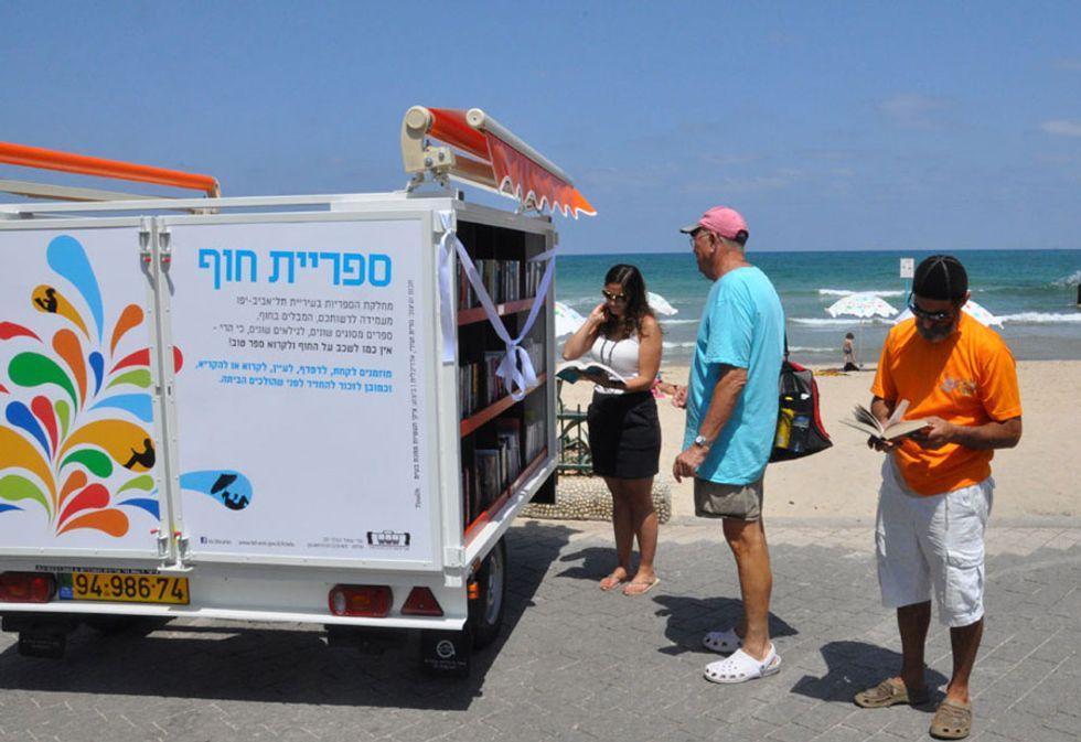 Le biblioteche in spiaggia in Israele