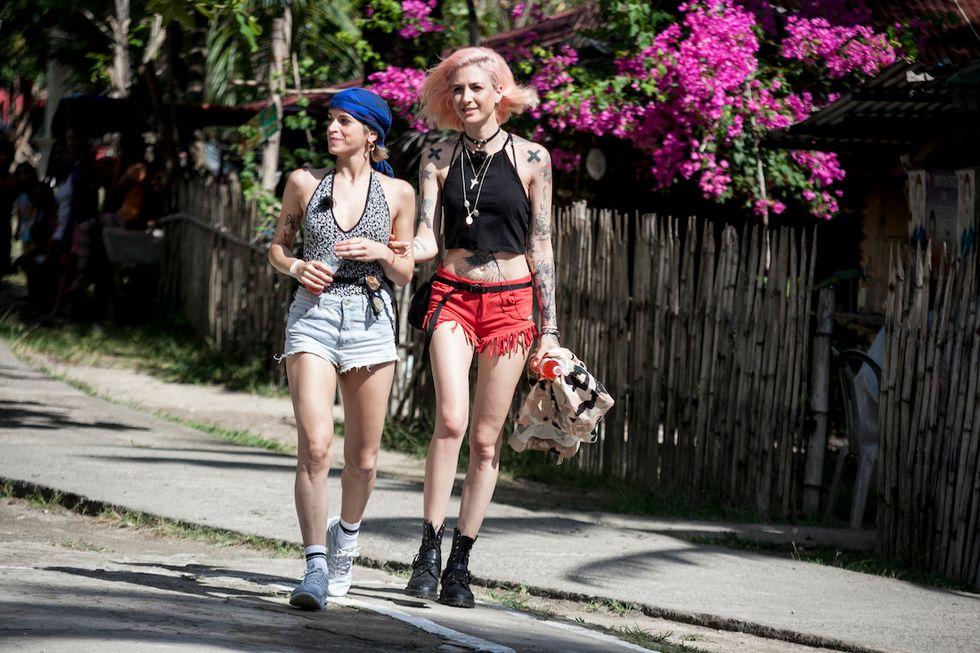 Le clubber Ema Stokholma e Valentina Pegorer