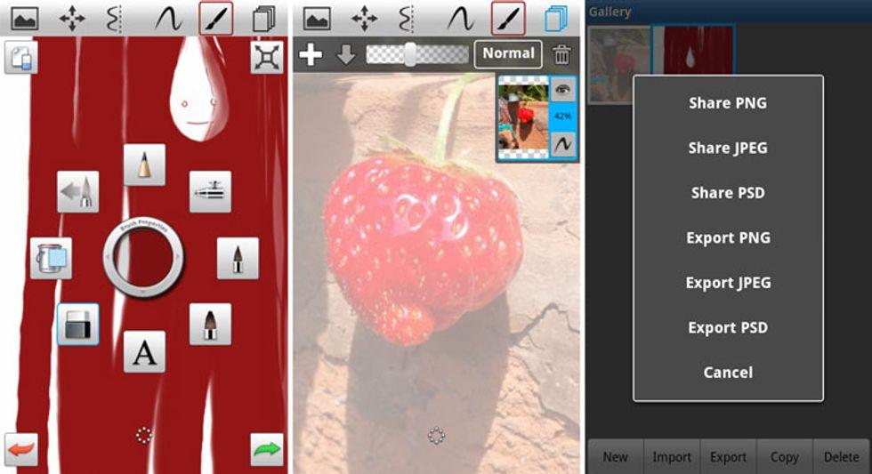 Le migliori applicazioni per Android: SketchBook Mobile