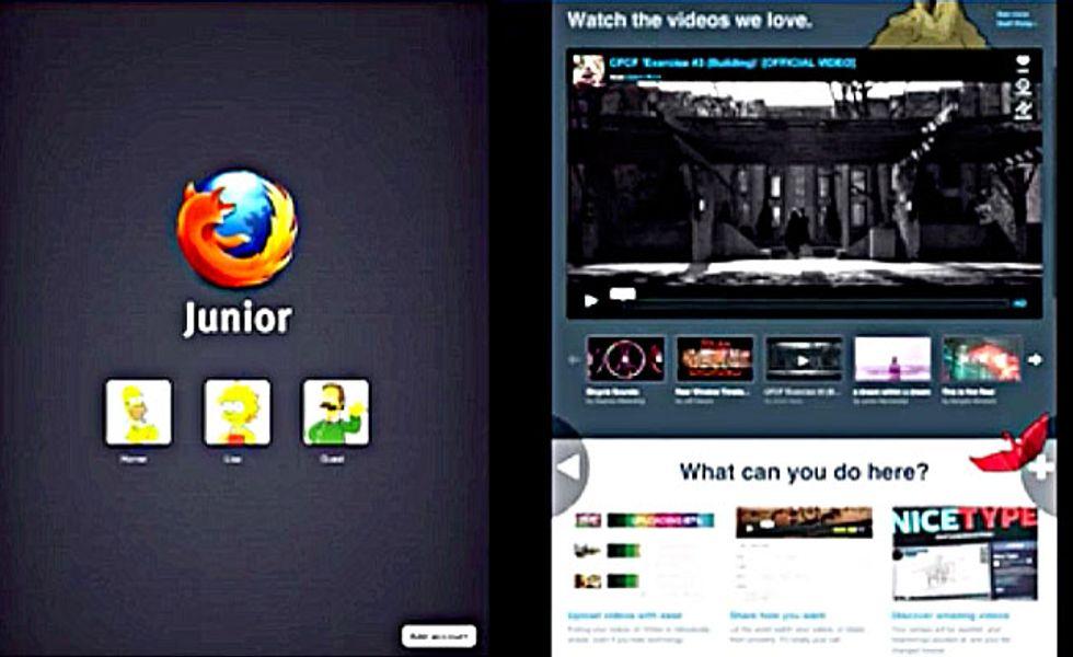 Mozilla Junior: il browser ripensato per l'iPad