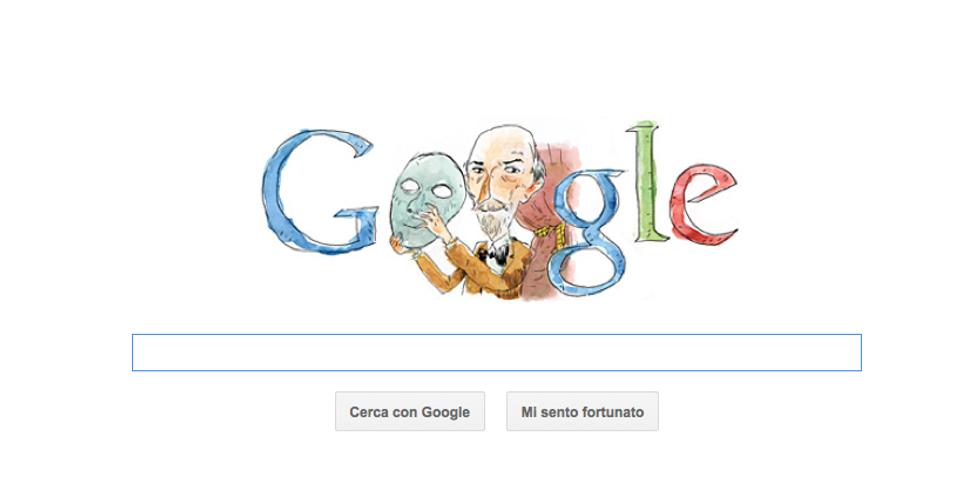 Luigi Pirandello si toglie la maschera per il Google Doodle