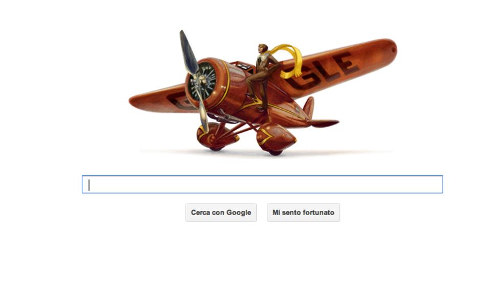Amelia Earhart, un doodle per l'eroina dei cieli