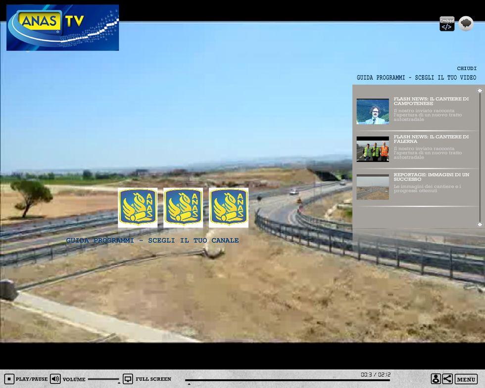 Anas, una web tv per il traffico in tempo reale