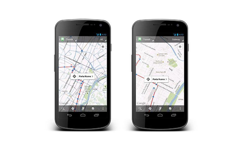 Google Maps punta sul trasporto pubblico su mobile