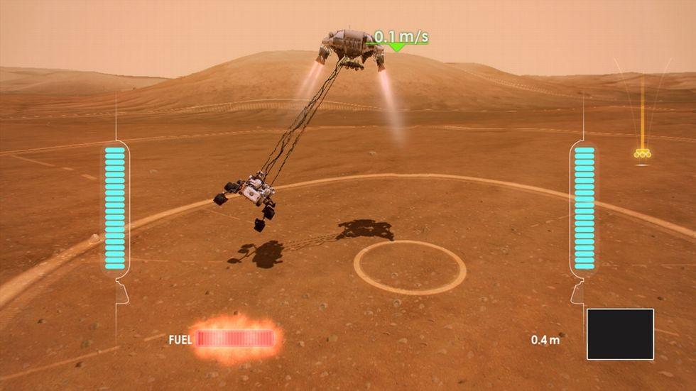 Fai atterrare il Curiosity (per gioco)