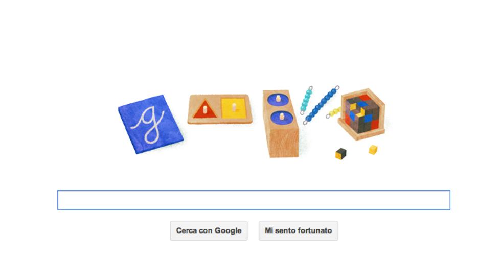 Un doodle per Maria Montessori