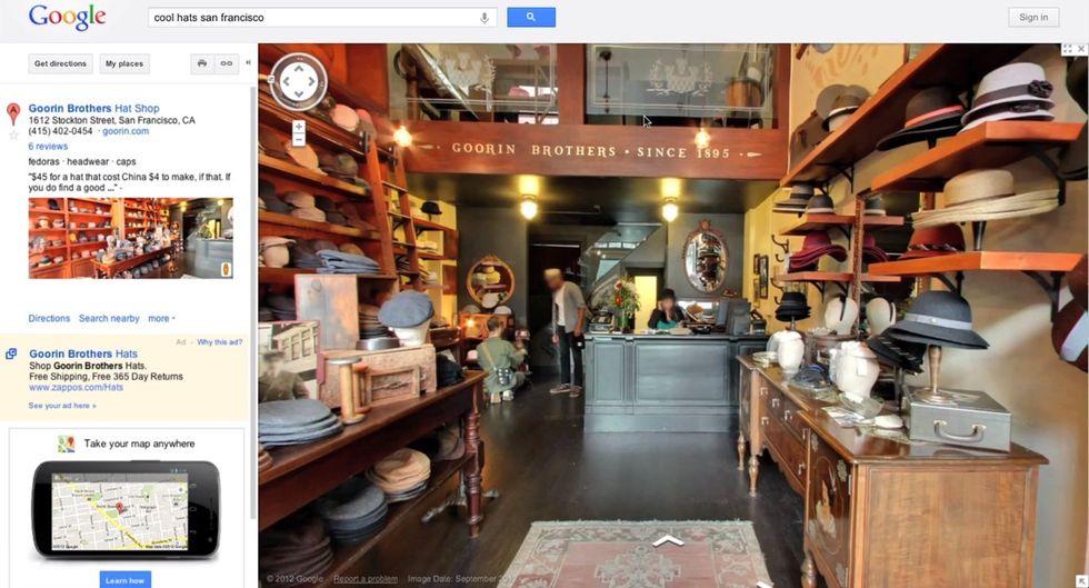 Google Business Photos, la Street View per gli interni arriva su Google Maps