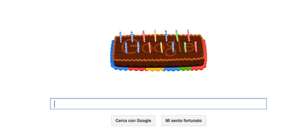Google, un doodle di buon compleanno