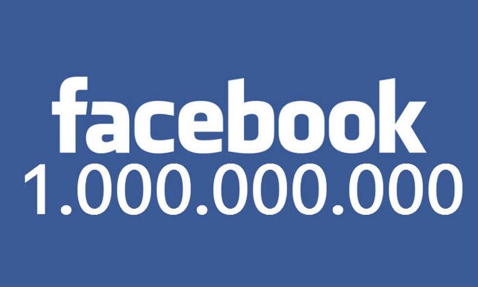 Facebook: raggiunto il miliardo di utenti