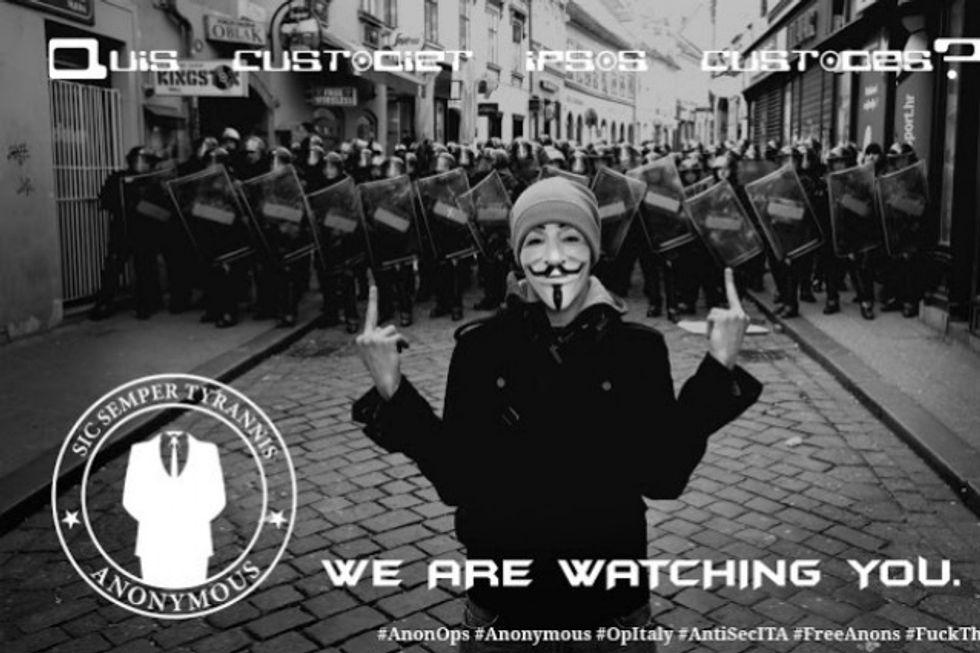 Anonymous pubblica i segreti della Polizia italiana