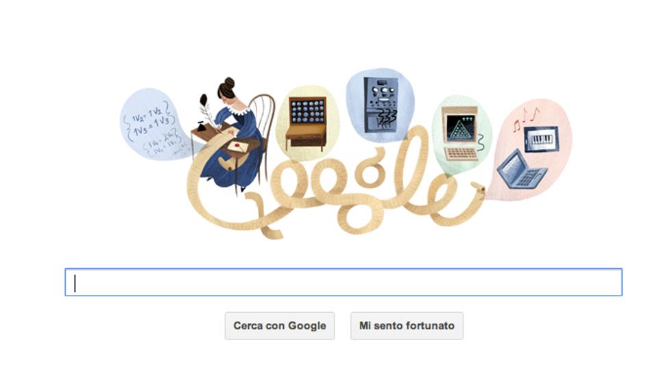Un Doodle per Ada Lovelace,  prima programmatrice al mondo