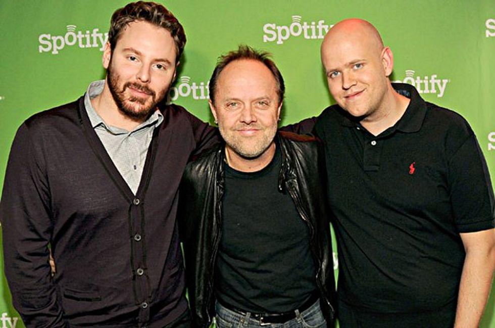 Metallica e Napster fanno pace. Merito di Spotify