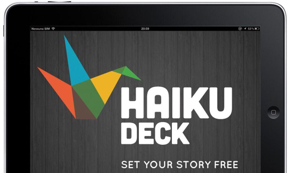 Le migliori applicazioni per iPad: Haiku Deck