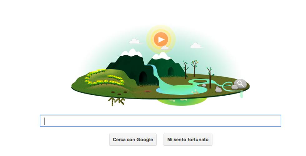 Un doodle per la Giornata della Terra