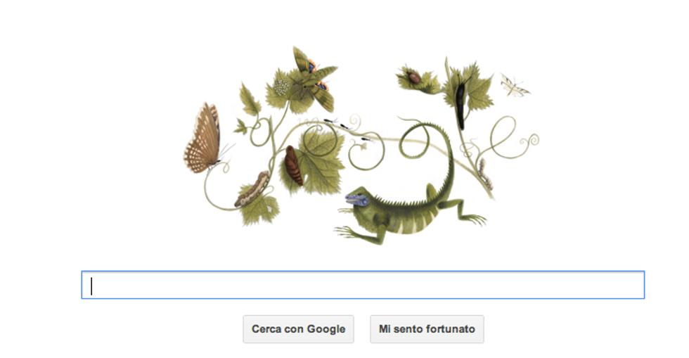 Un doodle per la donna che amava gli insetti
