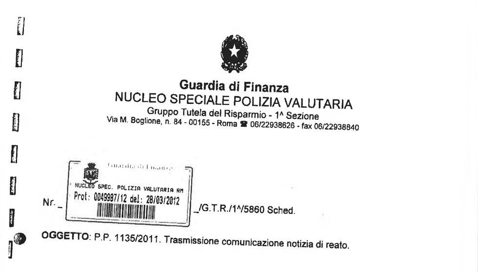 Scandalo Mps, l'informativa della Guardia di Finanza