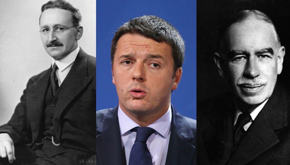 Cosa dicono Keynes e Hayek degli 80 giorni di Renzi