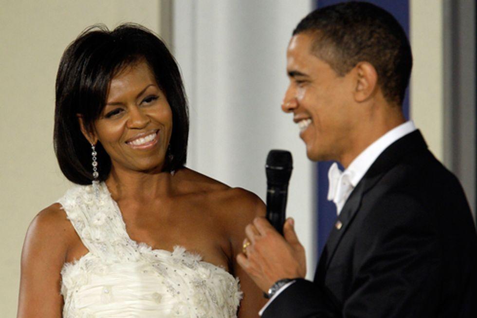 Barack Obama con la first lady Michelle