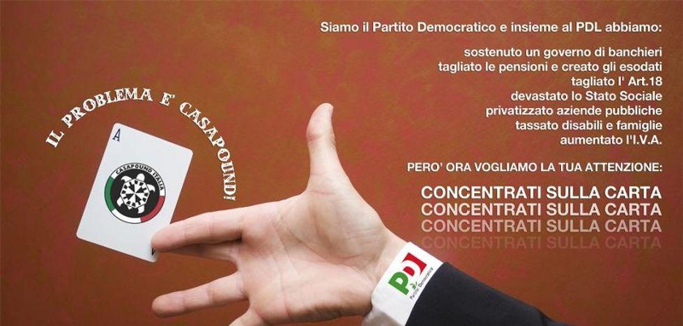 """Casapound: """"Alle primarie noi votiamo Bersani"""""""