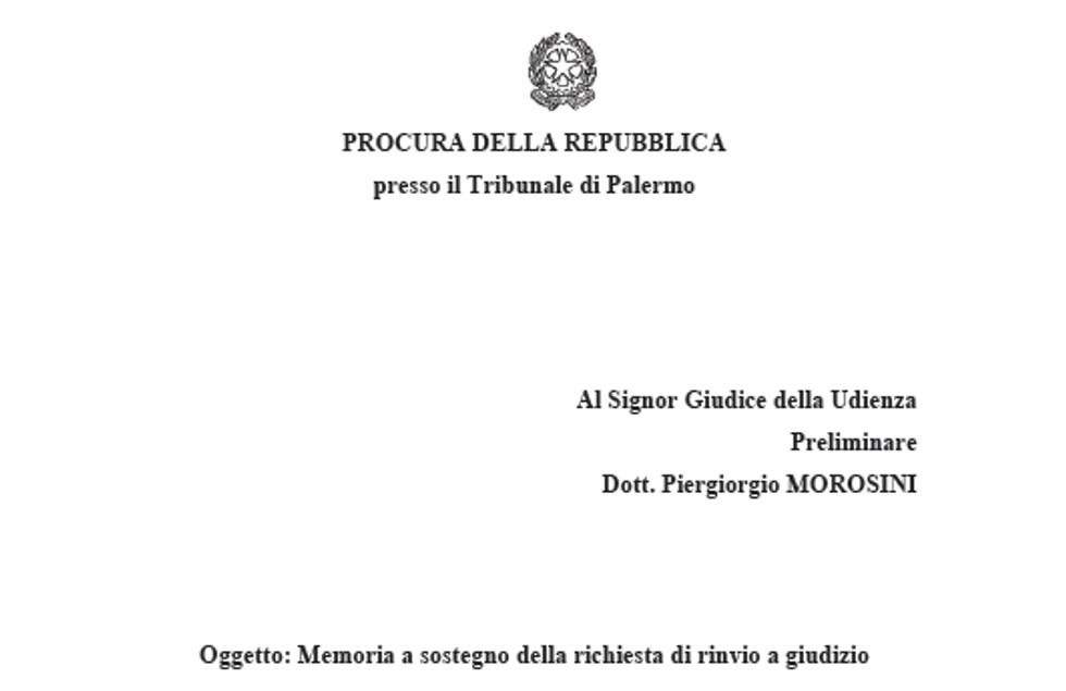 Trattativa Stato-Mafia: il memoriale dei pm di Palermo