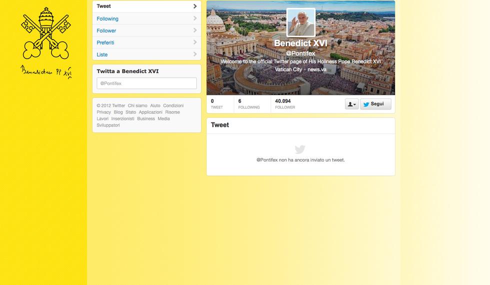 Il Papa su Twitter: ecco perché