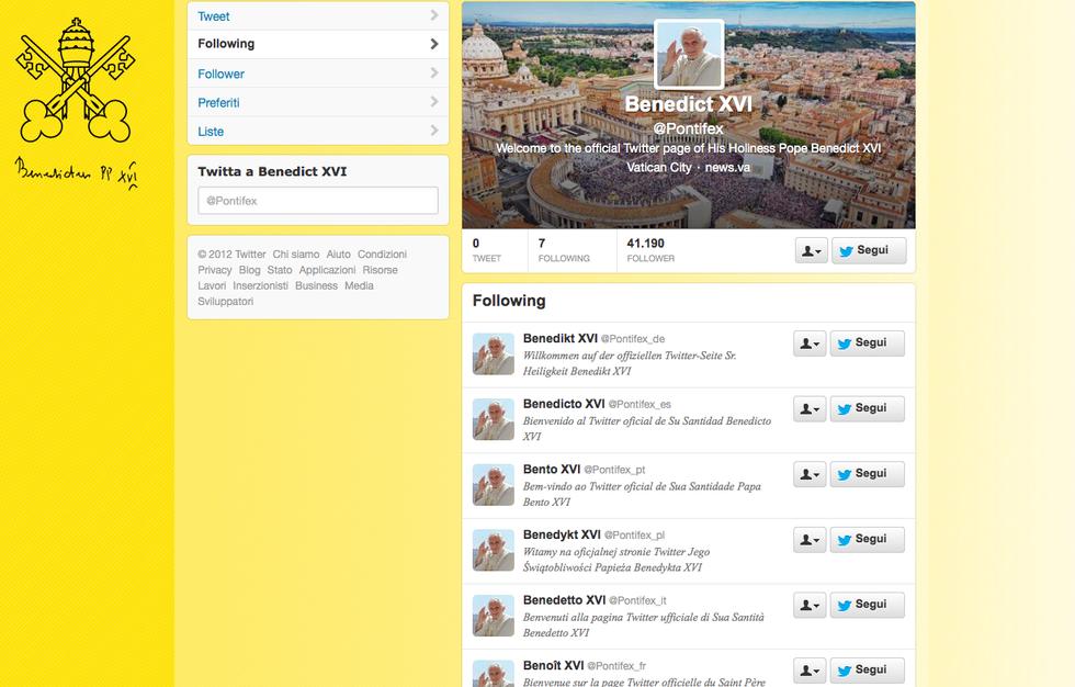 Il Papa su Twitter: e scoppia l'ironia del web