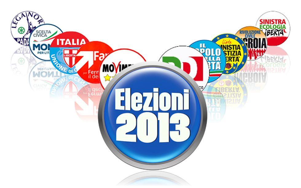 Elezioni 2013, partito per partito - Infografica