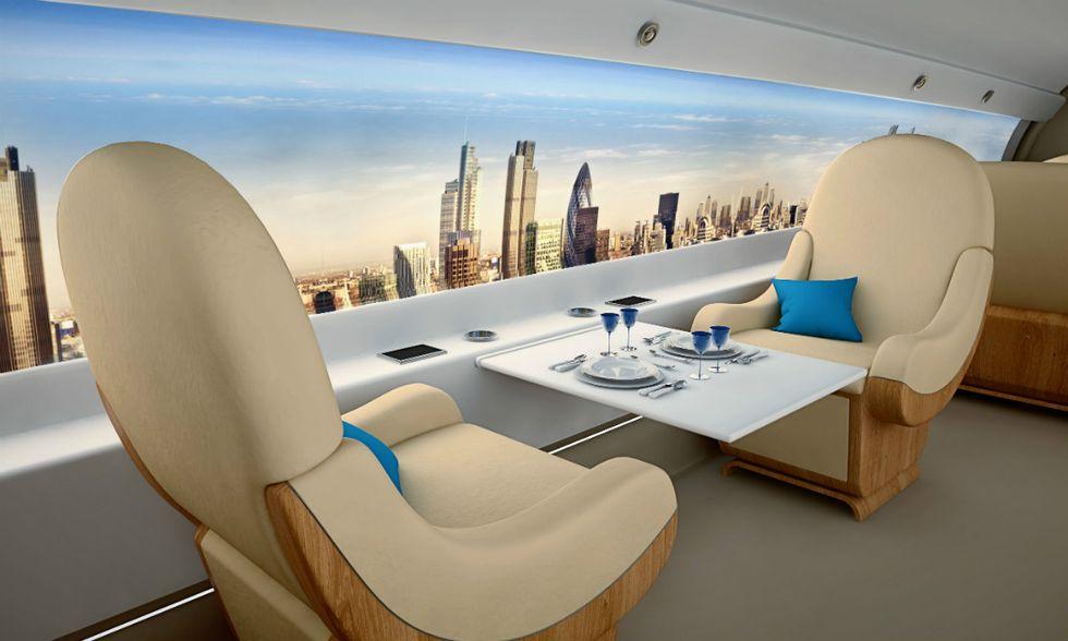 Ecco le cabine degli aerei del futuro