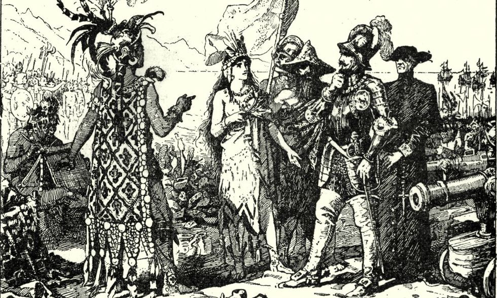 Gli Aztechi incontrano i colonizzatori spagnoli