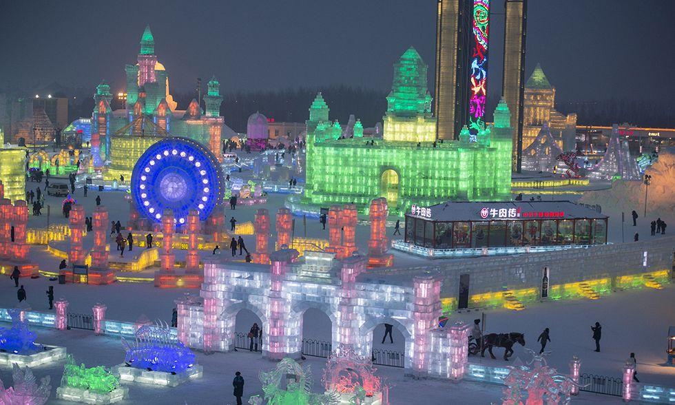 Cina, il festival del ghiaccio di Harbin