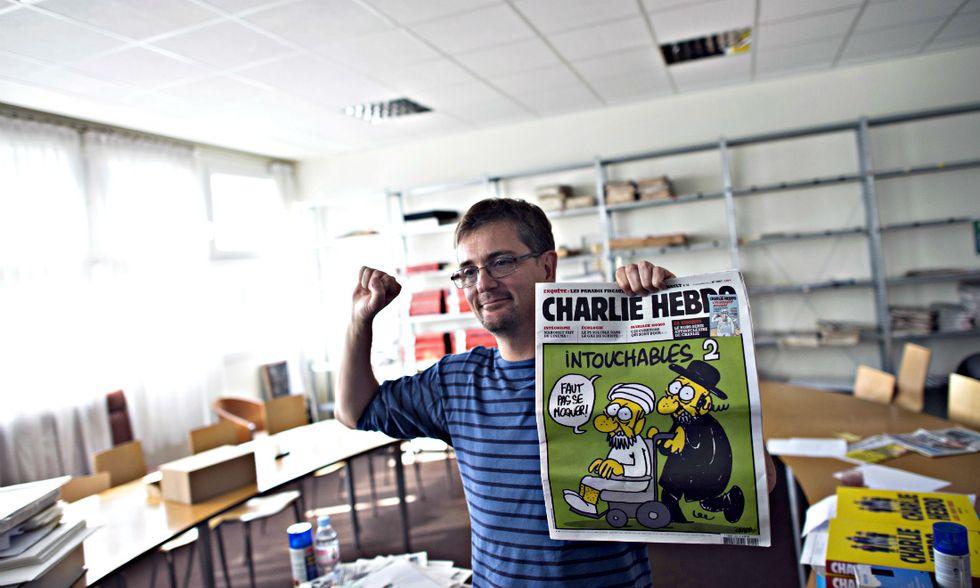 Ricordo di Charb, il direttore di Charlie Hebdo