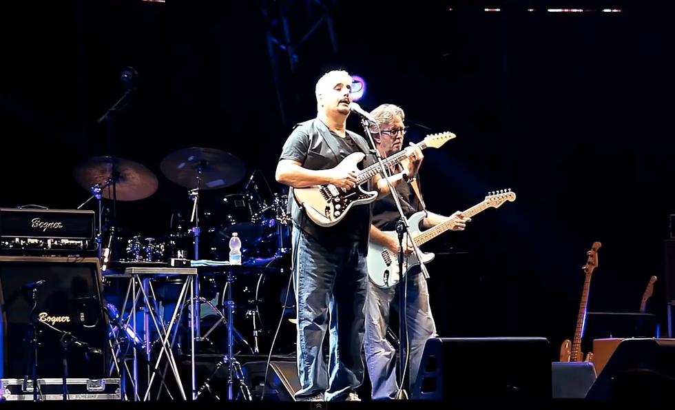 Pino Daniele ed Eric Clapton: quella notte a Cava dei Tirreni