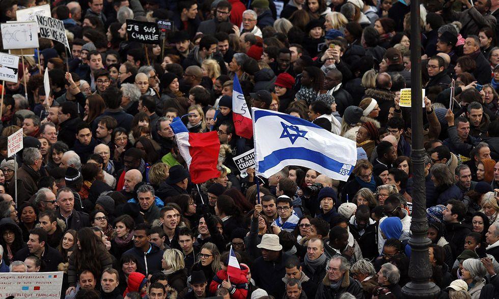 Le manifestazioni in Francia contro il terrorismo - Foto