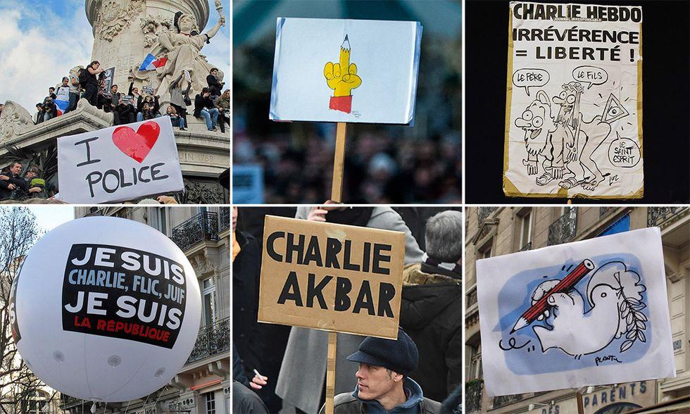 Je suis Charlie e gli altri slogan della marcia di Parigi - Foto