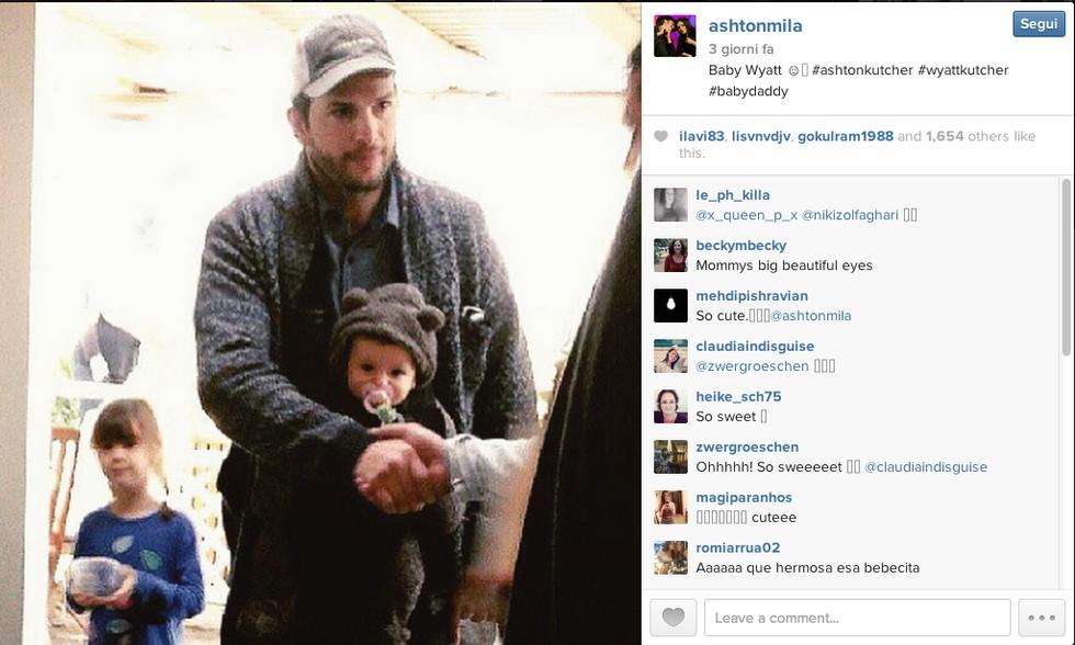 Mila Kunis e Ashton Kutcher: ecco Wyatt Isabelle