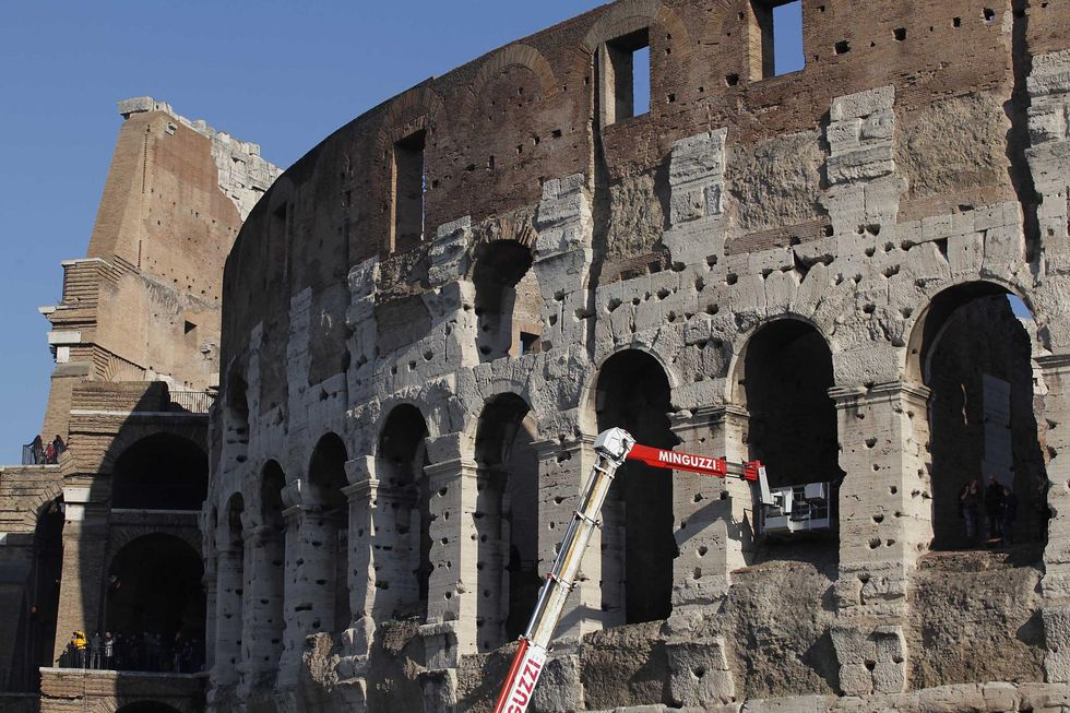 In Rome, Colosseum is leaning