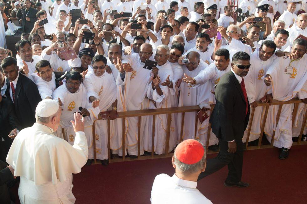 Il Papa in Sri Lanka, le foto