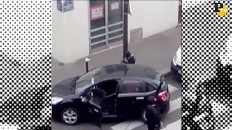 Charlie Hebdo: nuovo video della fuga