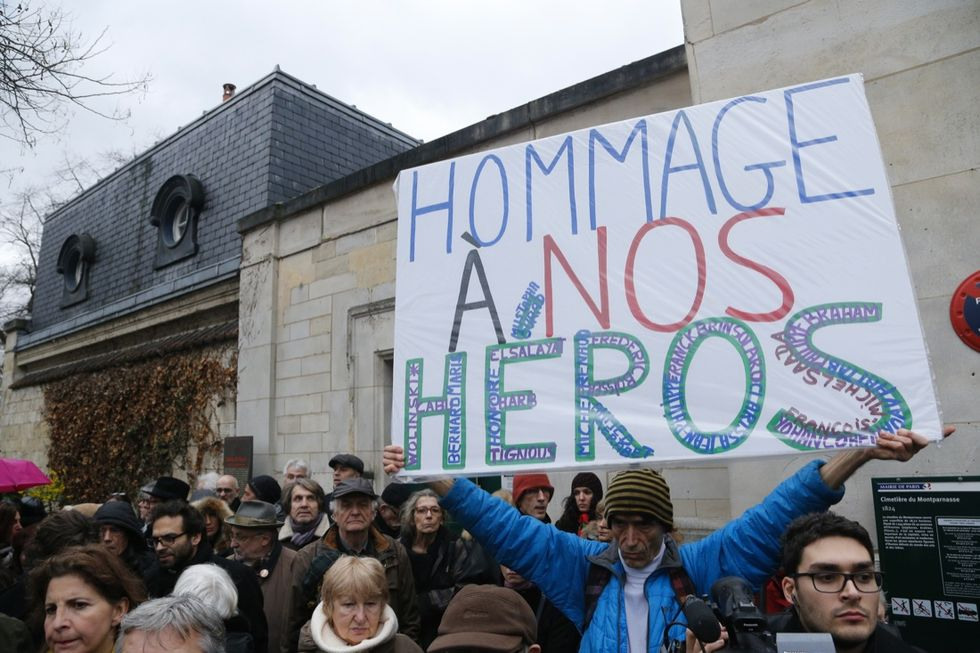 L'ultimo saluto agli autori di Charlie Hebdo
