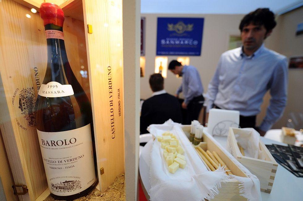 Barolo wine at auction