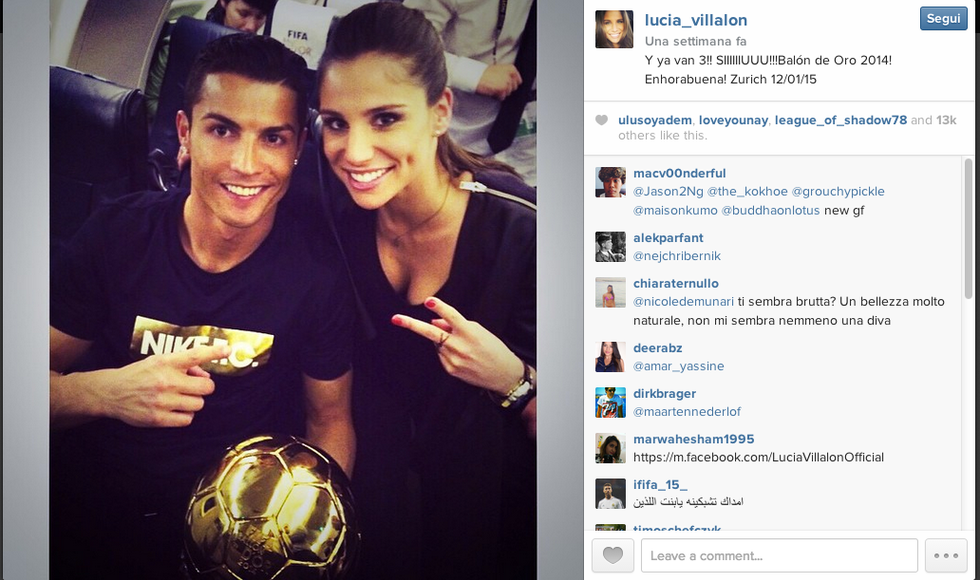 Cristiano Ronaldo: tutte le donne del goleador